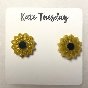 Sunflower Stud Earrings - Brand New